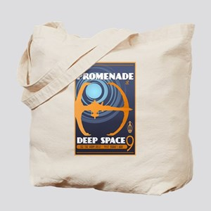The Promenade at DS9 Vintage Travel Poster Tote Ba