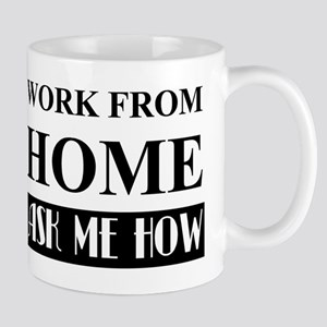 Work from home bw Mugs