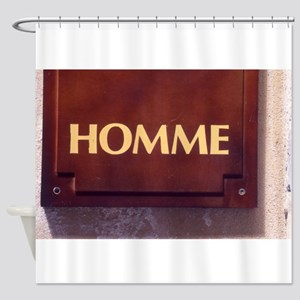 Homme/Man in French Shower Curtain