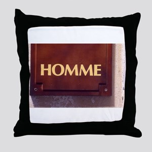 Homme/Man in French Throw Pillow