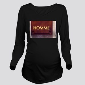 Homme/Man in French Long Sleeve Maternity T-Shirt