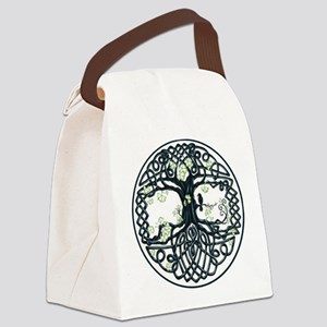 Celtic Tree Knot Canvas Lunch Bag