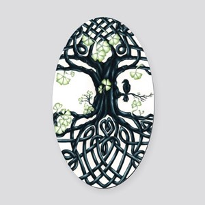 Celtic Tree Knot Oval Car Magnet