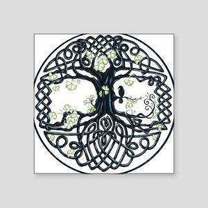 "Celtic Tree Knot Square Sticker 3"" x 3"""