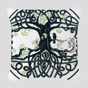 Celtic Tree Knot Woven Throw Pillow