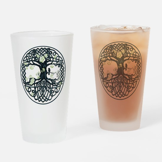 Celtic Tree Knot Drinking Glass