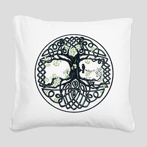 Celtic Tree Knot Square Canvas Pillow