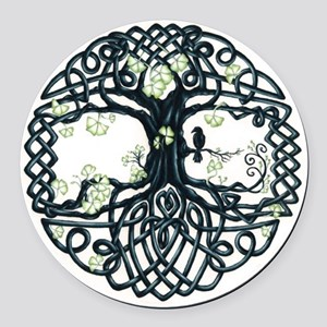 Celtic Tree Knot Round Car Magnet