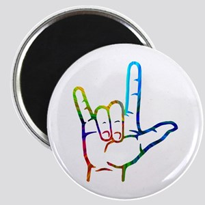 Rainbow Burst I Love You Magnet