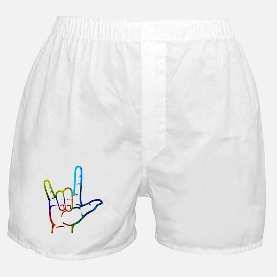 Rainbow Burst I Love You Boxer Shorts