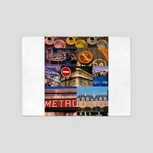 Paris Collage 5'x7'Area Rug