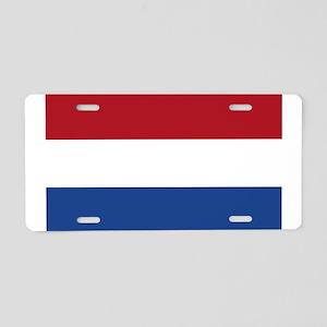 netherlands-flag4000w Aluminum License Plate