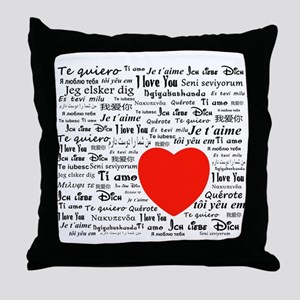 I love you in all languages Throw Pillow