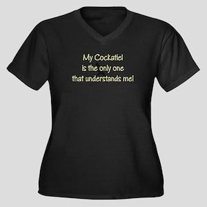 Cockatiel Understands Me Plus Size T-Shirt