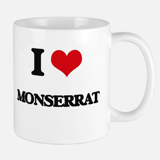 I Love Monserrat Mugs