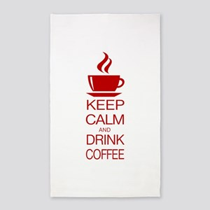 Keep Calm and Drink Coffee Area Rug