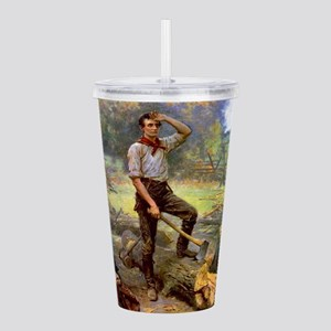 abe lincoln Acrylic Double-wall Tumbler