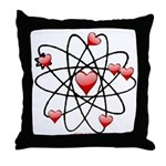 Atomic Valentine Throw Pillow