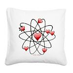 Atomic Valentine Square Canvas Pillow