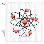 Atomic Valentine Shower Curtain