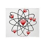 Atomic Valentine Throw Blanket