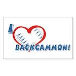 Backgammon Rectangle Sticker
