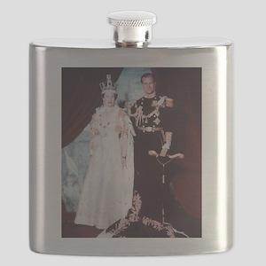 queen elizabeth the second Flask