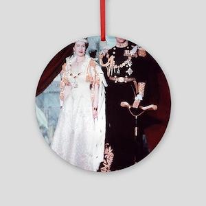 queen elizabeth the second Ornament (Round)