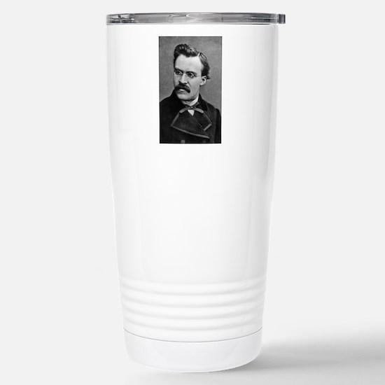 friedrich nietzsche Stainless Steel Travel Mug