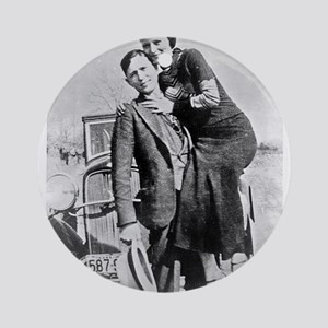 bonnie and clyde Ornament (Round)