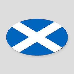 scotland-flag Oval Car Magnet