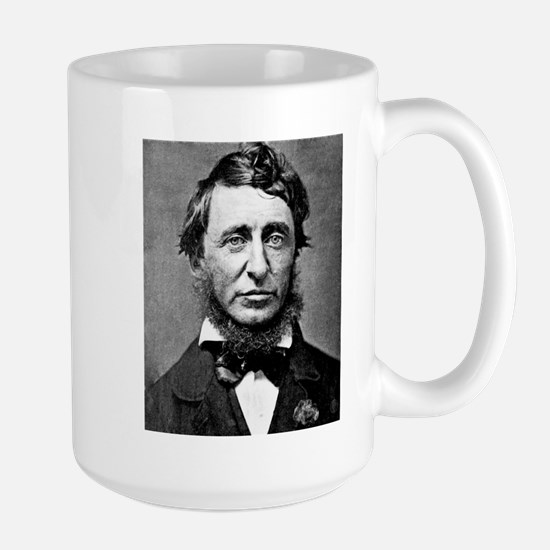 henry david thoreau Large Mug