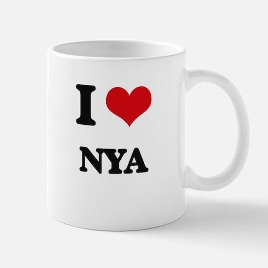 I Love Nya Mugs