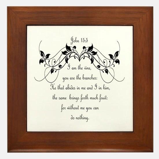 I Am The Vine Bible Scripture John Framed Tile