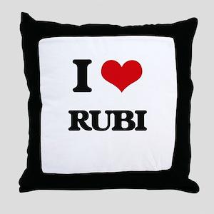 I Love Rubi Throw Pillow