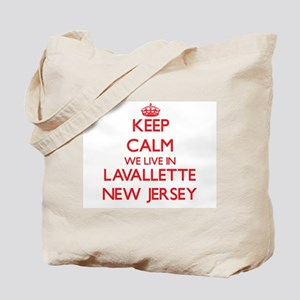 Keep calm we live in Lavallette New Jerse Tote Bag