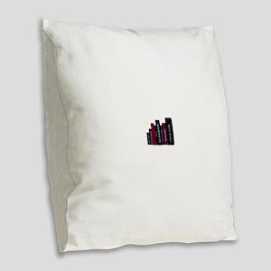 book lover Burlap Throw Pillow