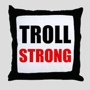 Troll Strong Throw Pillow