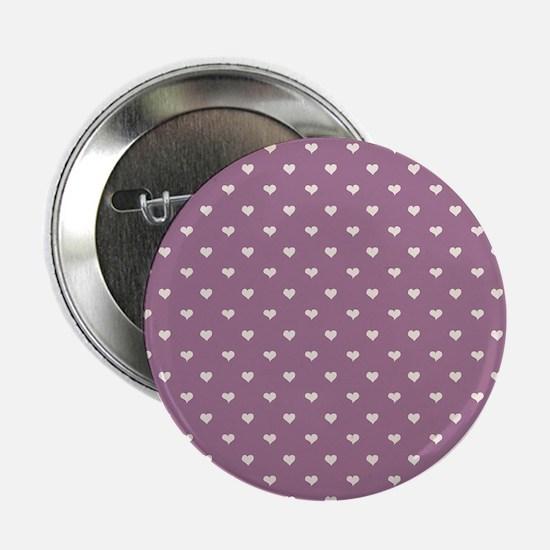 """Purple Mini Hearts Retro Pattern 2.25"""" Button (10"""