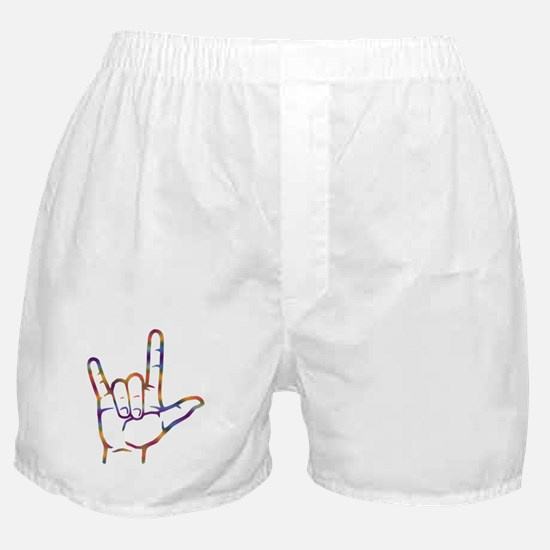Tiedye I Love You Boxer Shorts