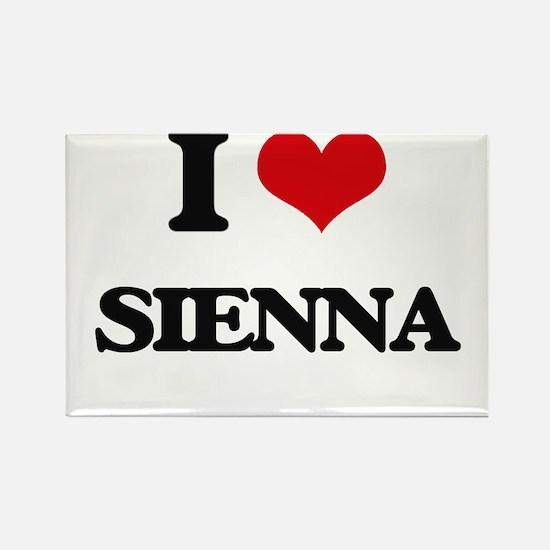 I Love Sienna Magnets