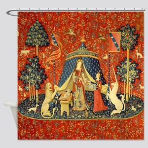 Lady and the Unicorn Medieval Tapestry Art Shower