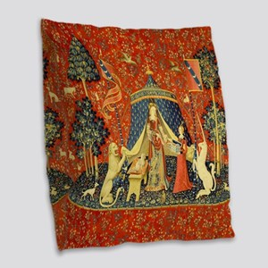 Lady and the Unicorn Medieval Tapestry Art Burlap