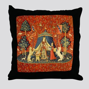 Lady and the Unicorn Medieval Tapestry Art Throw P