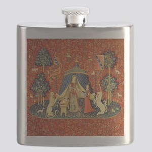 Lady and the Unicorn Medieval Tapestry Art Flask