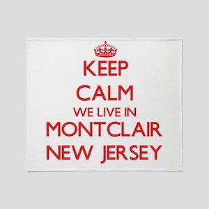 Keep calm we live in Montclair New J Throw Blanket