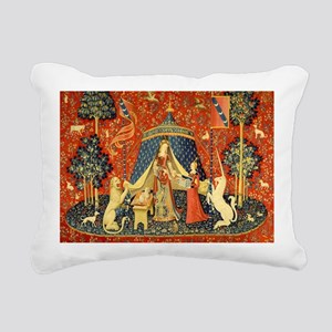 Lady and the Unicorn Medieval Tapestry Art Rectang