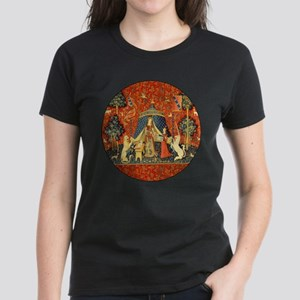 Lady and the Unicorn Medieval Tapestry Art T-Shirt