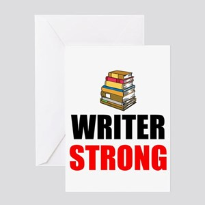 Writer Strong Greeting Cards