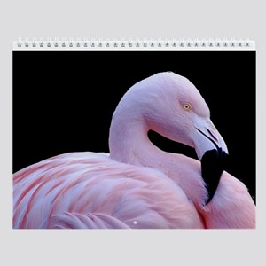 Pink Flamingo Wall Calendar